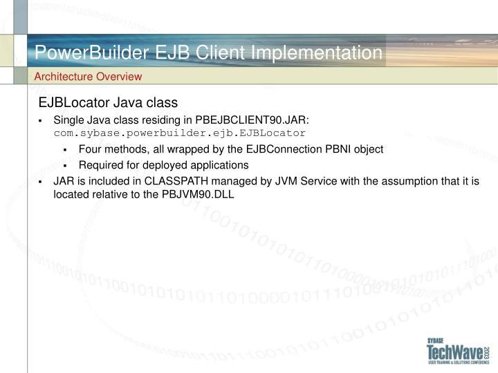 PowerBuilder EJB Client Implementation