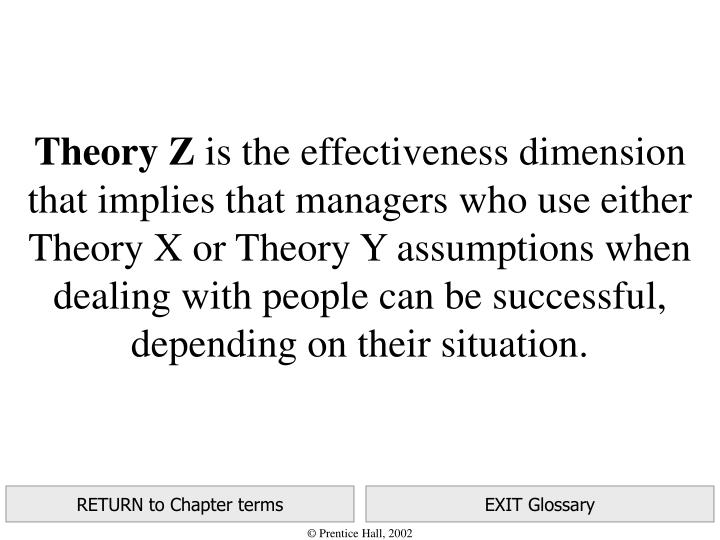 theory x and theory y assumptions