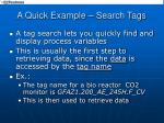 a quick example search tags