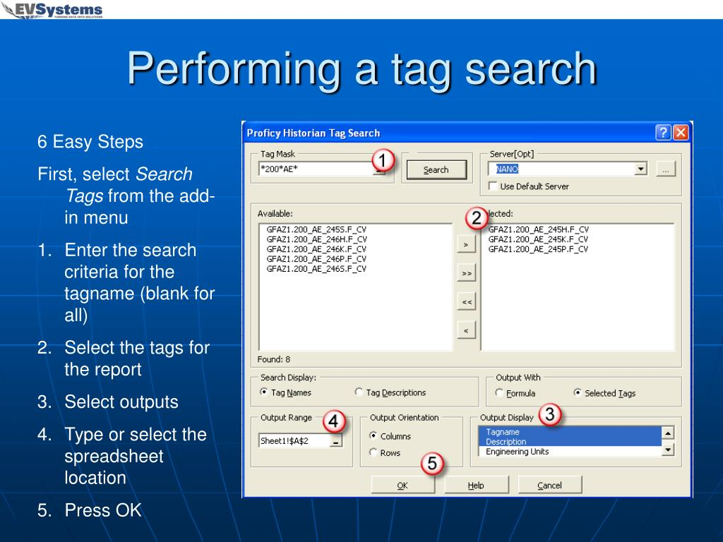 Performing a tag search