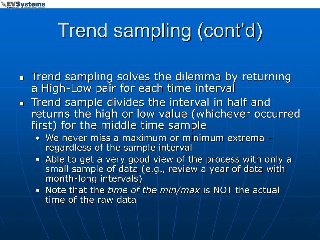Trend sampling (cont'd)