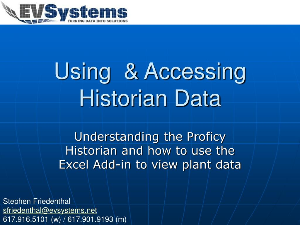 using accessing historian data l.