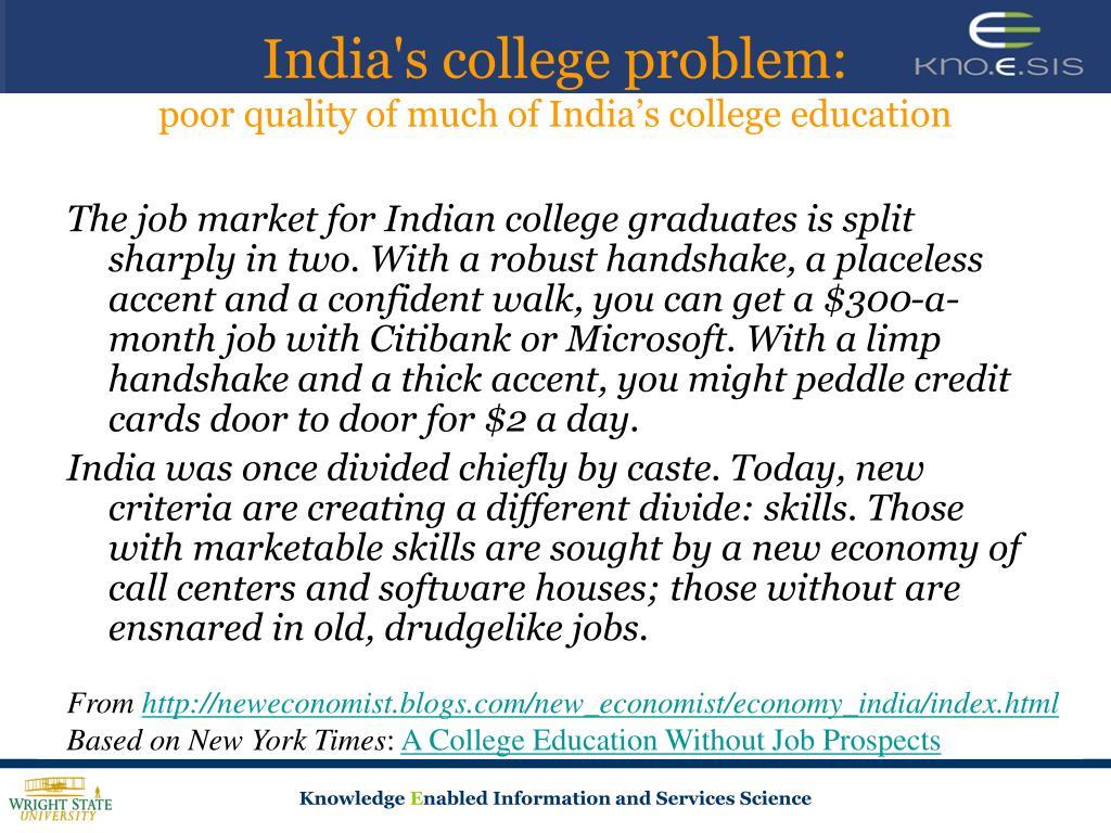 India's college problem: