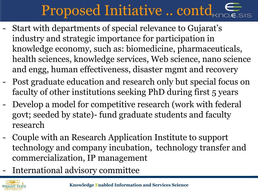Proposed Initiative .. contd