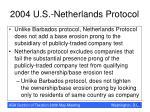 2004 u s netherlands protocol