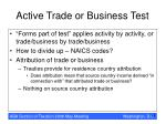 active trade or business test18