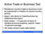 active trade or business test19
