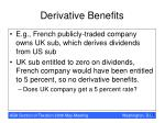 derivative benefits12