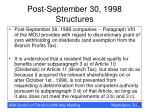 post september 30 1998 structures