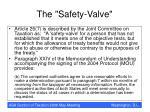 the safety valve