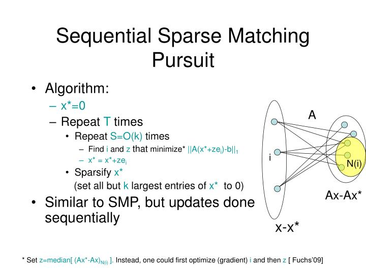 Sequential Sparse Matching Pursuit