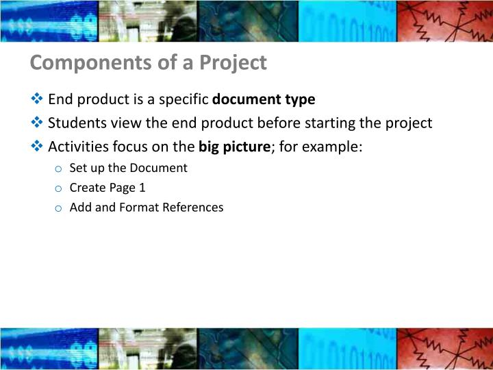 Components of a Project