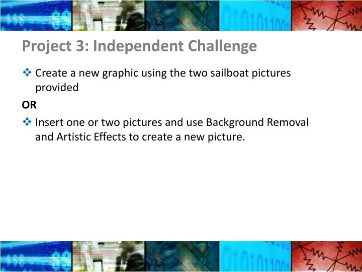 Project 3: Independent Challenge