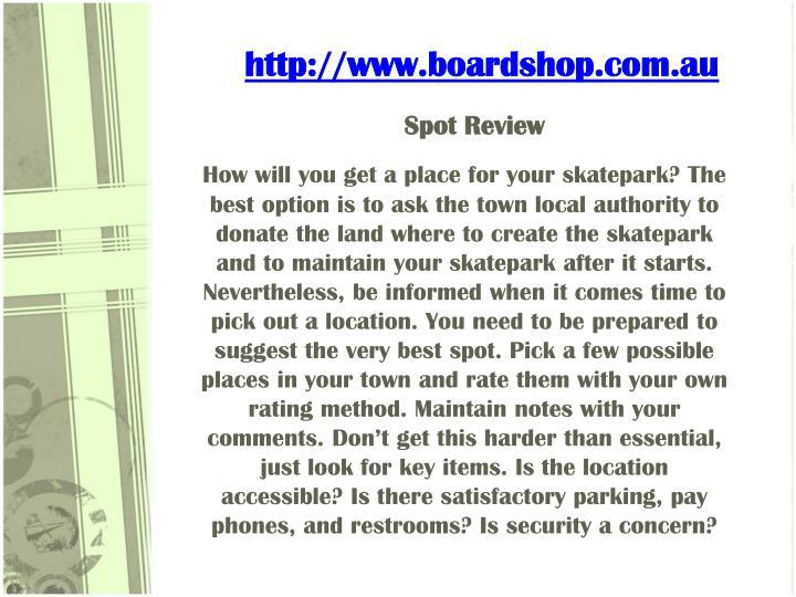 Spot review
