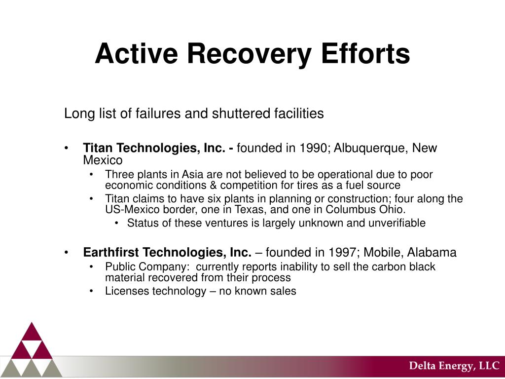Active Recovery Efforts