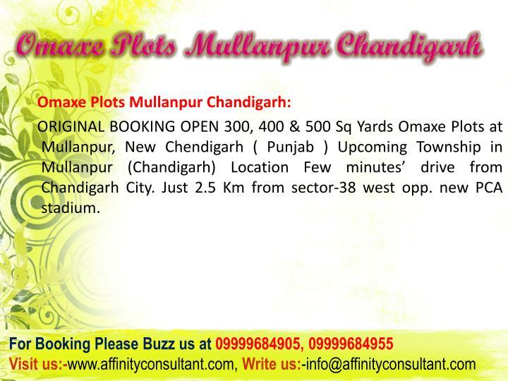 Omaxe plots mullanpur chandigarh3