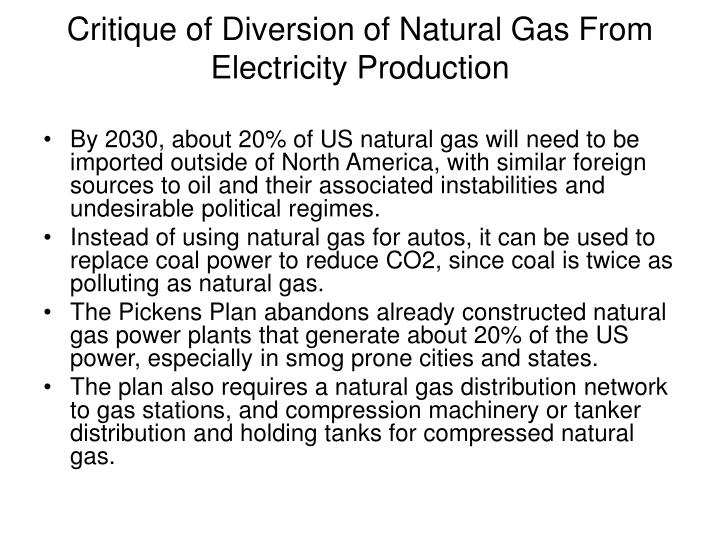 Critique of Diversion of Natural Gas From Electricity Production