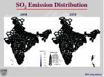 so 2 emission distribution