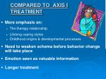compared to axis i treatment