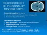 neurobiology of personality disorder bpd