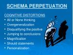 schema perpetuation