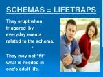 schemas lifetraps
