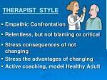 therapist style