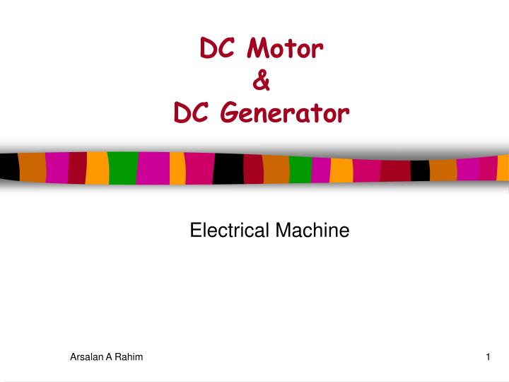 Ppt electric motors and generators powerpoint presentation id.