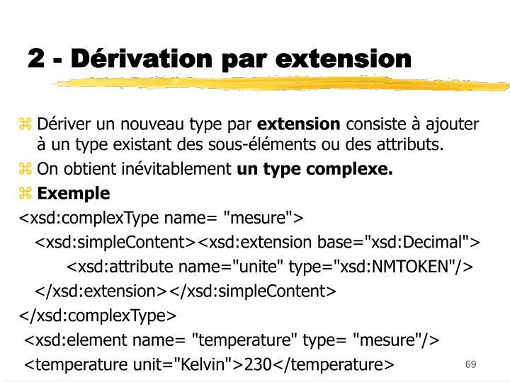 2 - Dérivation par extension