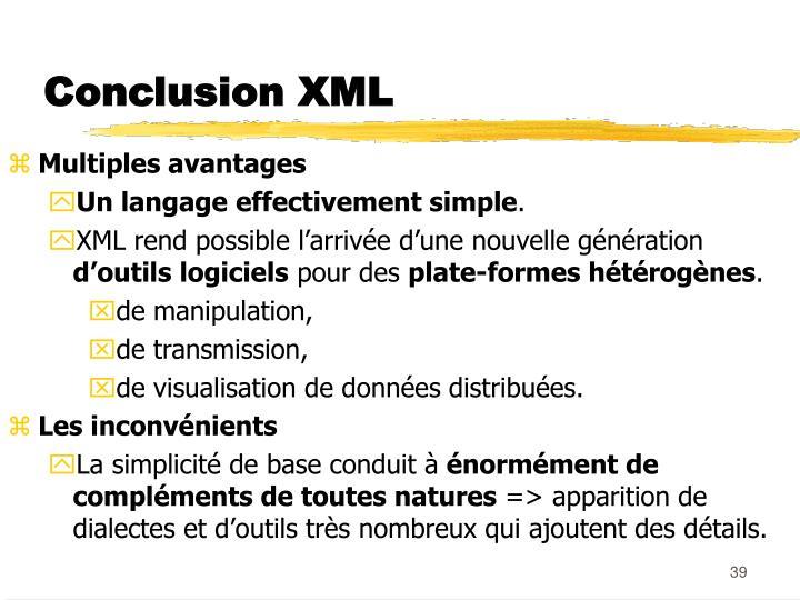 Conclusion XML