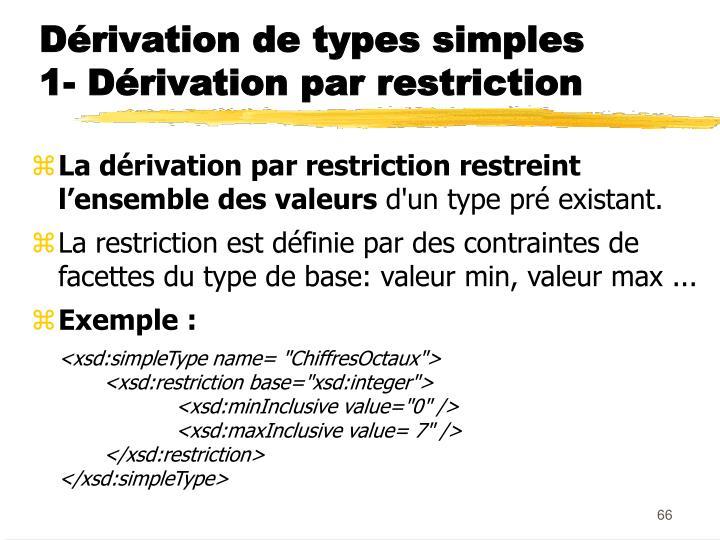 Dérivation de types simples