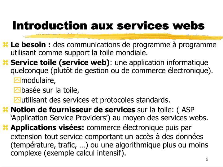 Introduction aux services webs