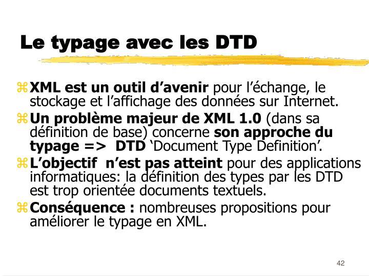 Le typage avec les DTD