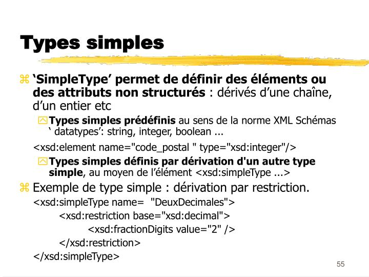 Types simples