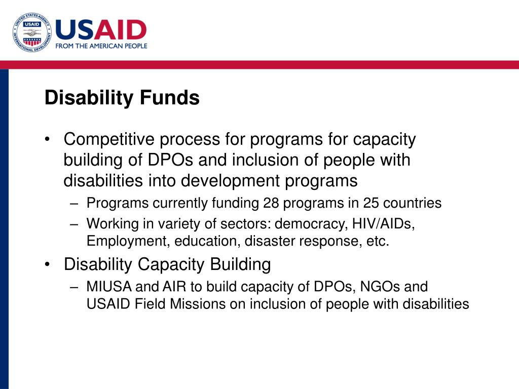 Disability Funds