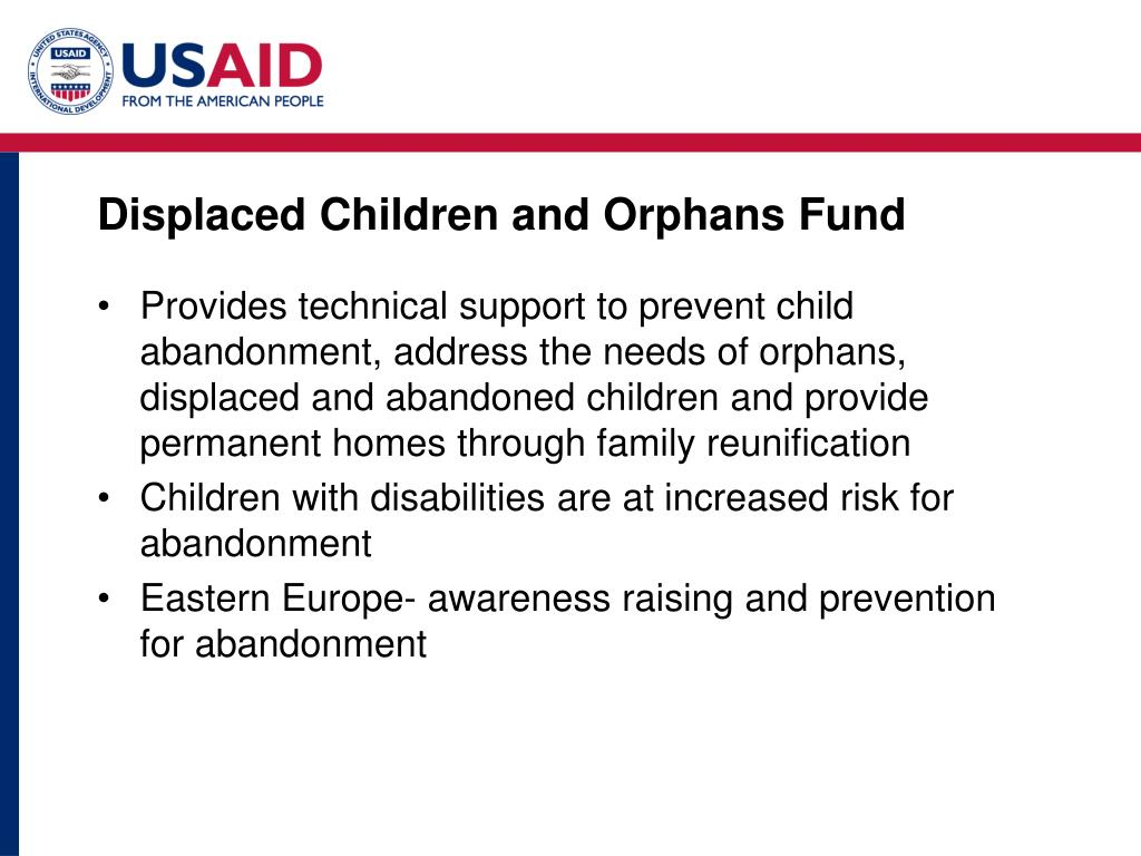 Displaced Children and Orphans Fund