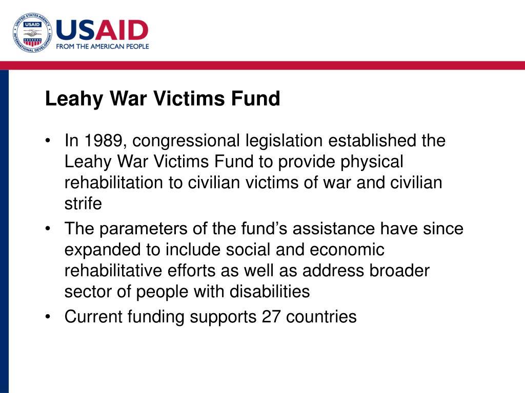 Leahy War Victims Fund
