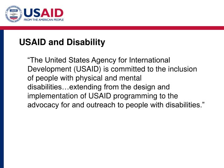 Usaid and disability