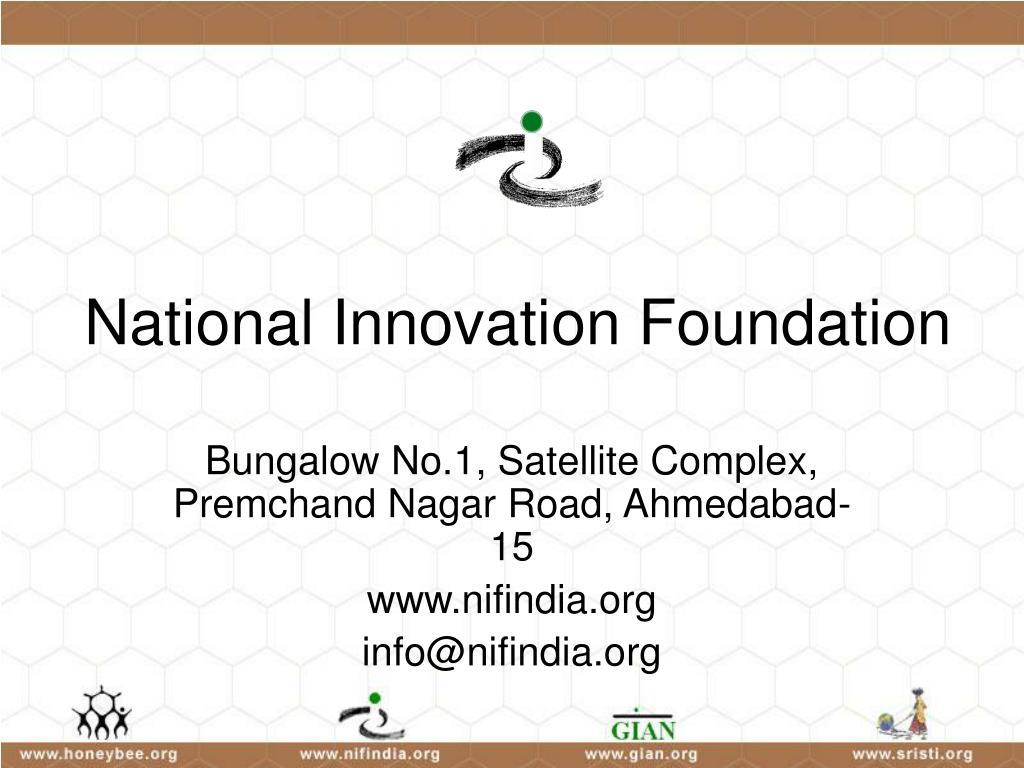 national innovation foundation l.