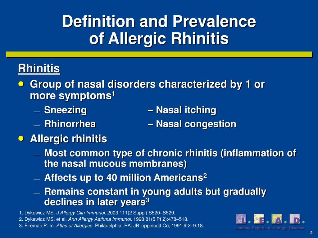 PPT - Allergic Rhinitis PowerPoint Presentation - ID:1437518