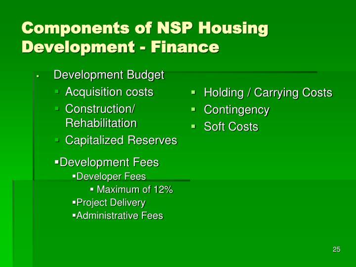 Development Budget