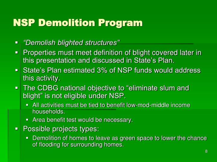 NSP Demolition Program