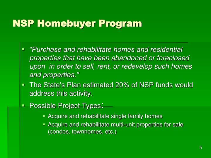 NSP Homebuyer Program