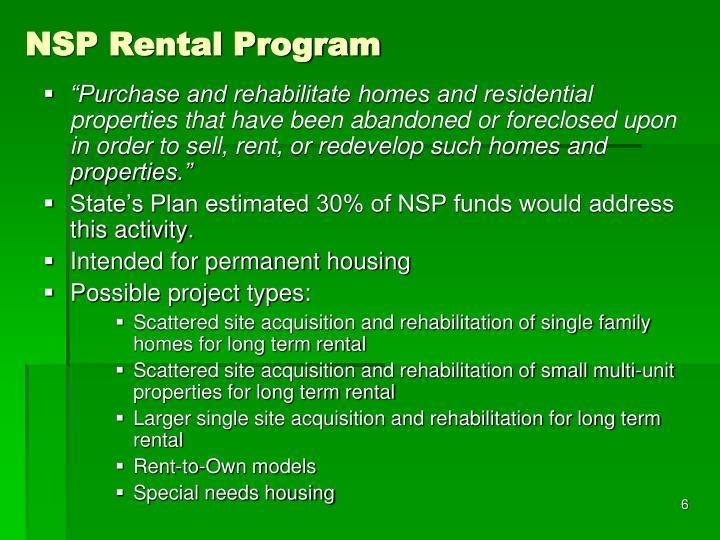 NSP Rental Program