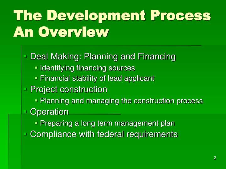 The development process an overview1