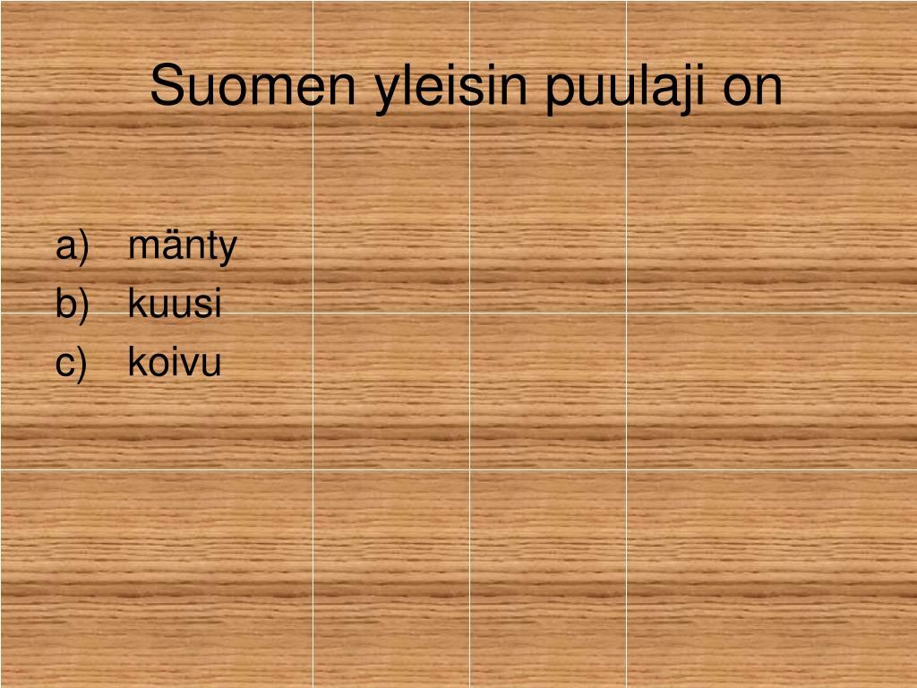 Suomen Yleisin Puulaji