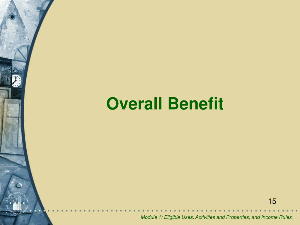 Overall Benefit