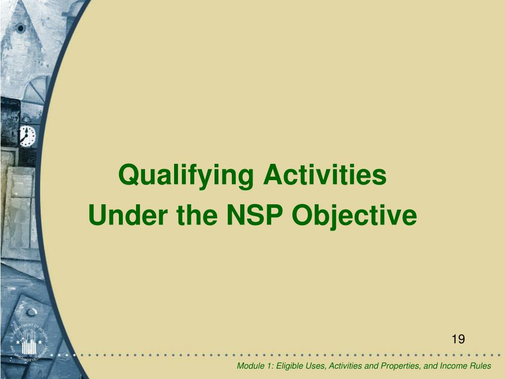 Qualifying Activities