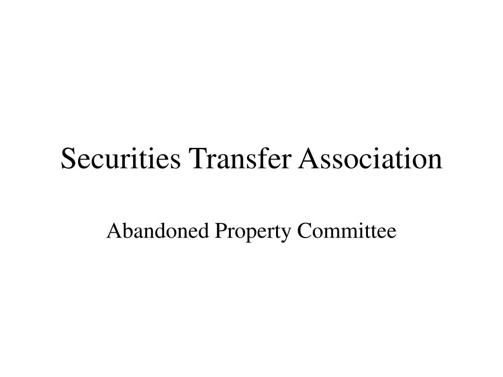 securities transfer association l.