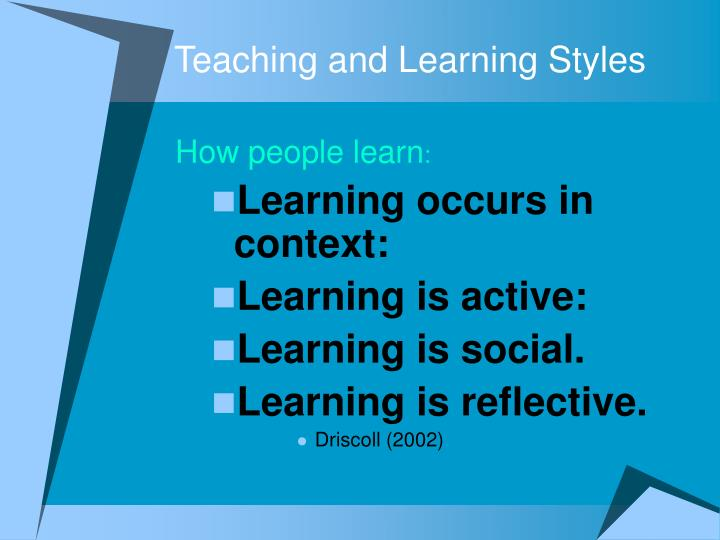 teaching and learning activity